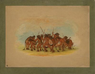 George Catlin, 'Buffalo Dance - Mandan', 1861