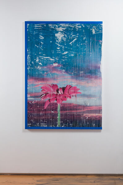 Parker Ito, 'Capitol Records Shit Toots (gerbera sunset w/ blue border)', 2016