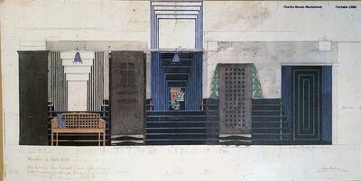 Charles Rennie Mackintosh, '1988 Certaldo the Willow Tea Rooms Poster - Charles Rennie Mackintosh, on Textured Paper', 1988