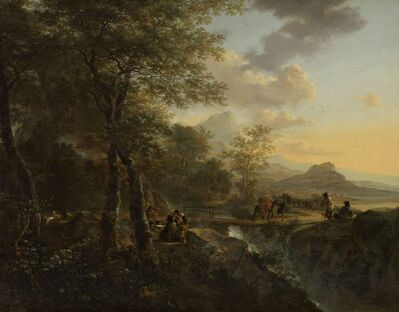 Jan Both, 'Italian Landscape with a Draughtsman', ca. 1650 -1652
