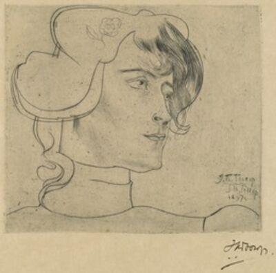 Jan Toorop, 'Head of a Woman (Marguérite Adolphine Helfrich)', 1897