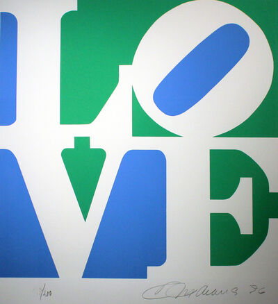 Robert Indiana, 'Love, Green and Blue From The Book Of Love', 1996