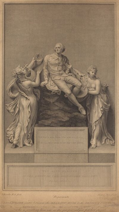 James Stow after Thomas Banks, 'Monument to William Shakespeare', published 1798