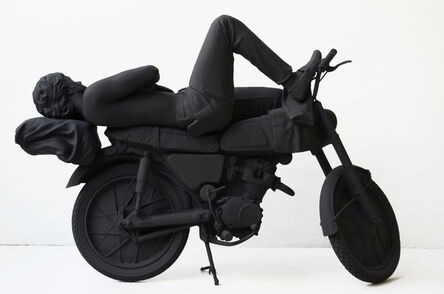 "Brigitte Zieger, 'Le motorcycliste endormi (From the series ""Sculptures anonymes"")', 2011"