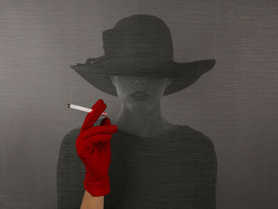 Tyler Shields, 'The Girl With The Red Glove', 2021