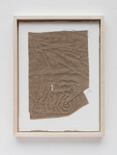 Analía Saban, 'Linen Canvas with Rupture on Acrylic Paint', 2015