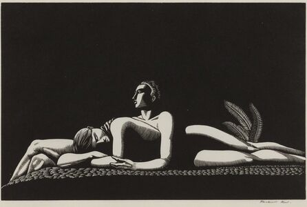 Rockwell Kent, 'The Lovers', 1928