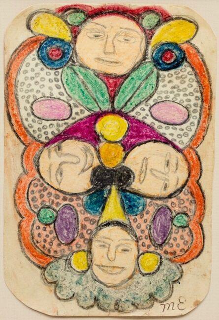 Minnie Evans, 'Four Faces', 1945
