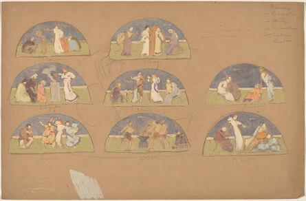 Charles Sprague Pearce, 'Studies for Lunettes', 1890/1897