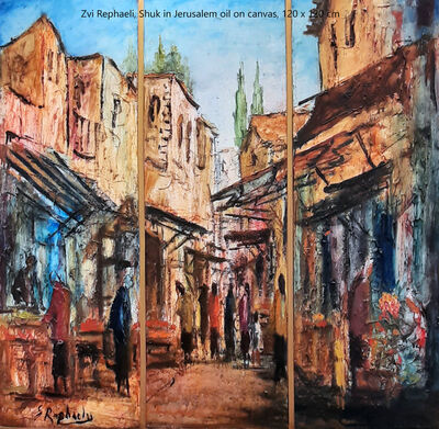 Zvi Rephaeli, 'Shuk in Jerusalem', 1924-2005
