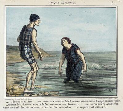 Honoré Daumier, 'Entrez donc dans la mer sans crainte... (Enter the sea without fear...)', 1856