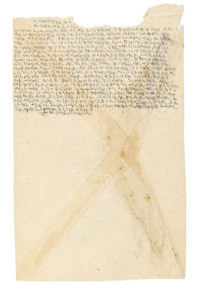 Robert Walser, 'Microscript 419', 1927-1928