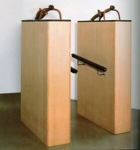 Juan Muñoz, 'Una doble entrada', 1989