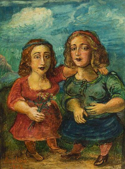 David Burliuk, 'Two Girls', 1948