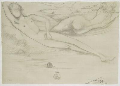 Salvador Dalí, 'A la Plage from the Nudes Suite', 1970