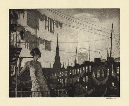 Martin Lewis, 'Glow of the City.', 1929.