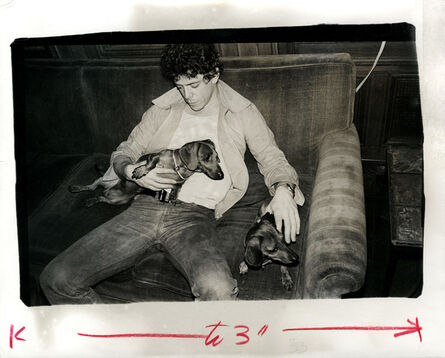 Andy Warhol, 'Andy Warhol, Photograph of Lou Reed (The Velvet Underground) with Dachshunds Amos and Archie circa 1976', ca. 1976