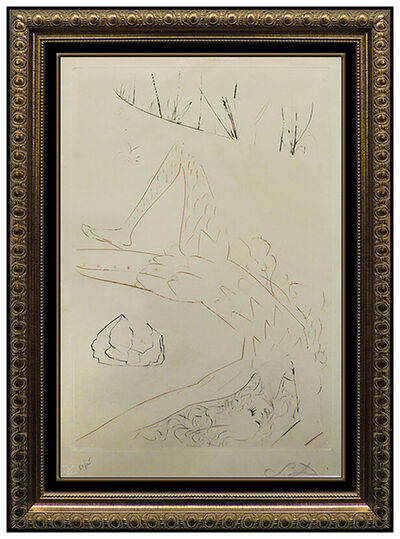 Salvador Dalí, 'Salvador Dali Tristan Wounded Color Etching Surreal Artwork Hand Signed Iseult', 1970