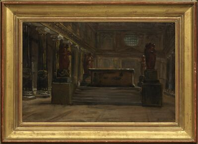 Auguste Jean-Baptiste Vinchon, 'A Tomb in the Nave of a Basilican Church', Early 19th Century