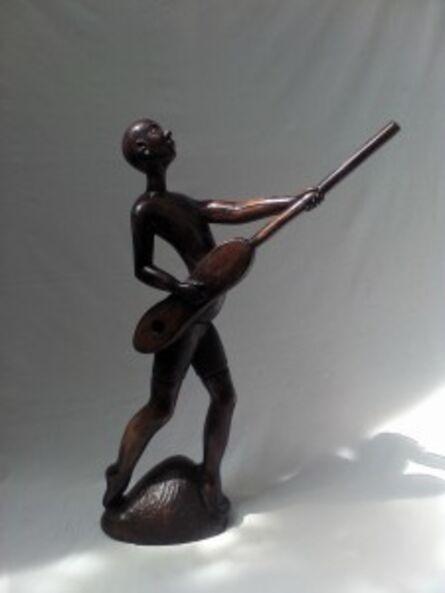 Ibou N'Diaye, 'Griot Playing His Guitar'