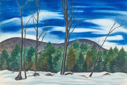 George Copeland Ault, 'Untitled (Winter Landscape with Five Trees)', 1937