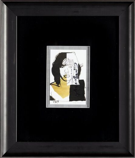 Andy Warhol, 'Andy Warhol  Mick Jagger FS.II.146 Hand Signed Gallery Announcement Invitation $2,895.00', 1970-2000