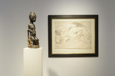 Ernst Ludwig Kirchner, 'Baule figure and Liegender Akt (nach links), verso: Liegender Akt (nach rechts)', -1914