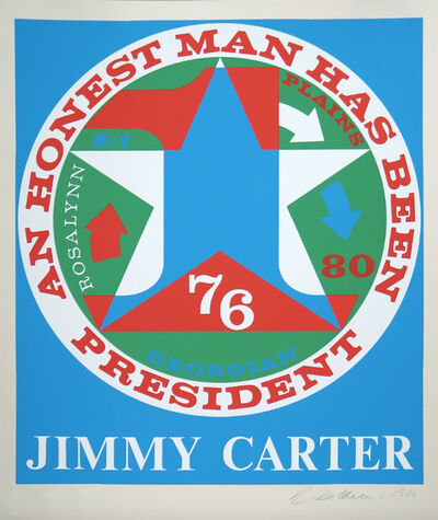Robert Indiana, 'An Honest Man Has Been President: A Portrait of Jimmy Carter', 1980