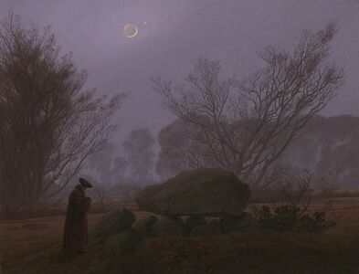 Caspar David Friedrich, 'A Walk at Dusk', 1830-1835