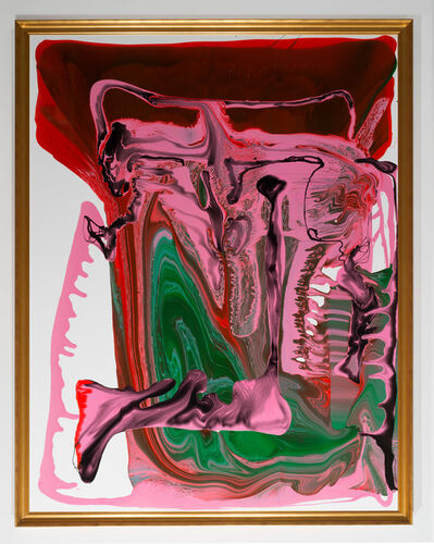 Dale Frank, 'Self Portrait with amorous Tapeworms', 2013