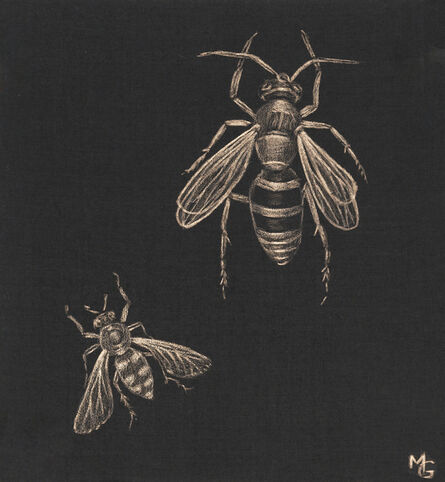 Margot Glass, 'Two Bees', 2020