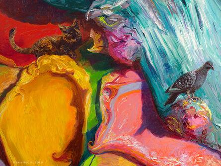 Iris Scott, 'Pursuing Pigeon in Paint', 2018