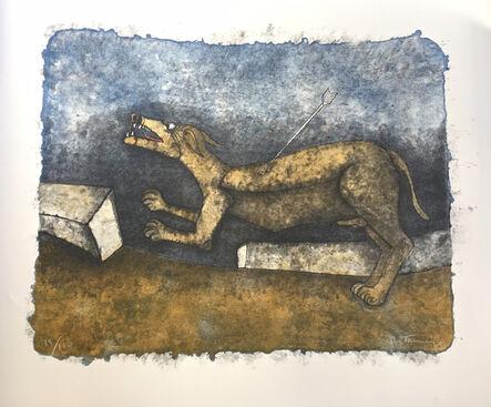 Rufino Tamayo, 'Perro Herido (Wounded Dog) from the 90th Anniversary suite (90 Aniversario)', 1989
