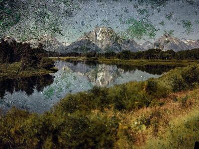 Abelardo Morell, 'Tent-Camera Image on Ground: View of Mount Moran and the Snake River From Oxbow Bend, Grand Teton National Park, Wyoming', 2011
