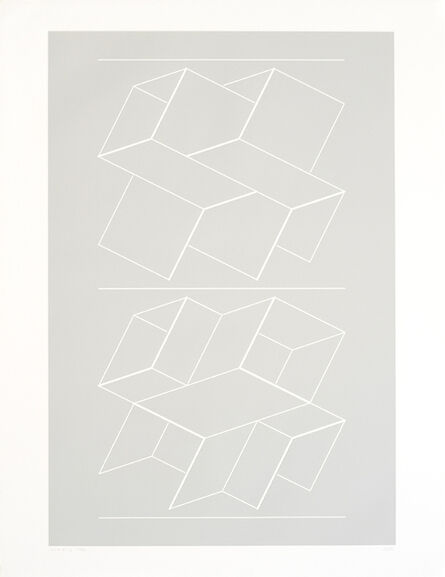 Josef Albers, 'White Embossings on Gray (WEG)', 1971
