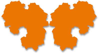 Paul Hosking, 'Rorschach Portrait (orange-2 parts)', 2012