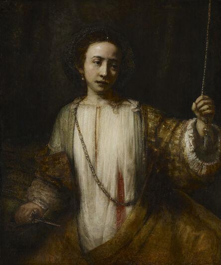 Rembrandt van Rijn, 'The Suicide of Lucretia', 1666