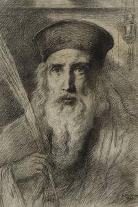 Simeon Solomon, 'The Rabbi', 1893