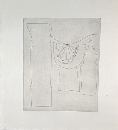 Ben Nicholson, 'Turkish sundial between two Turkish forms', 1967