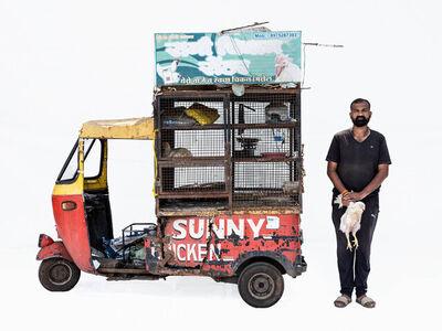 Martin Roemers, 'Gajaj autorickshaw #1; Chicken seller Sunny Jadhav (Nashik Maharashtra)', 2019