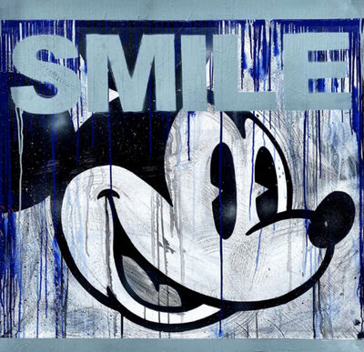 STEVIE CHOW, 'Smiling Mickey - Blue', 2021