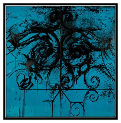 Jim Dine, 'Blue Commelynck Gate', 1982