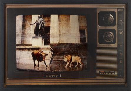 Robert Heinecken, 'Lion / Bull 'A'', 1986