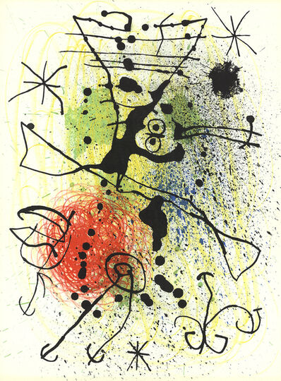 Joan Miró, 'Line and Splatter Composition', (Date unknown)