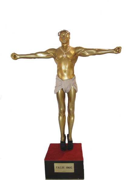 "Plastic Jesus, '""False Idol"" – Mixed Media Sculpture  ', 2015"