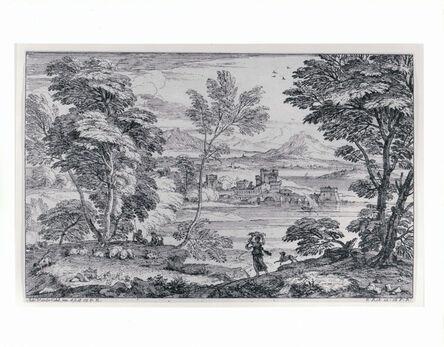 Adriaen Van Der Kabel, 'Landscape with a Maiden and her Dog', 1600s
