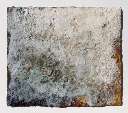 Orazio De Gennaro, 'Terra Bruciata (Scorched Earth) - Small Abstract Blue and Gray Painting', 2017
