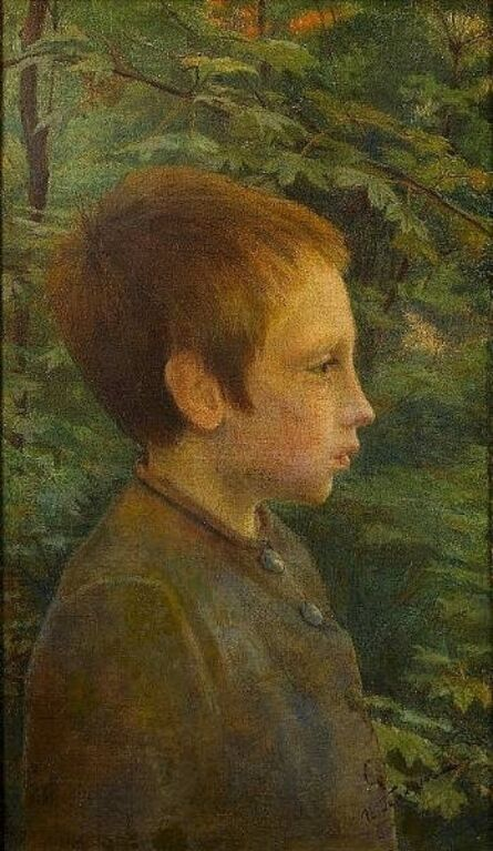 Ilya Galkin, 'Profile of Boy in the Forest ', unknown