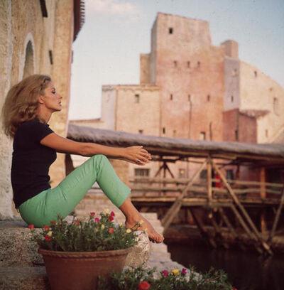 Slim Aarons, 'Dolores Guinnes, 1965: Catching the sun's last rays in Costa Smerelda, Sardinia', 1965