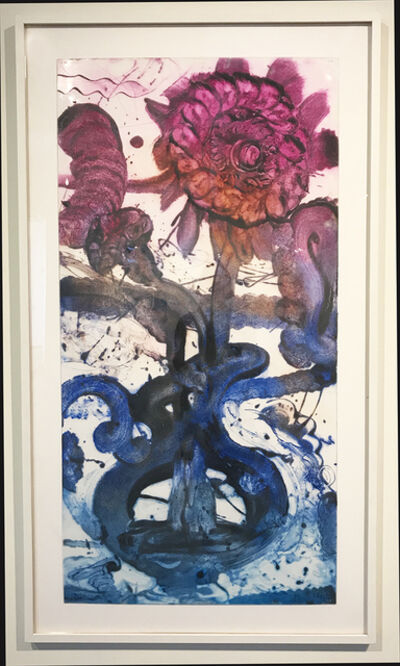 Catherine Howe, 'Reverse Carborundum Painting (Indigo Jug)', 2015